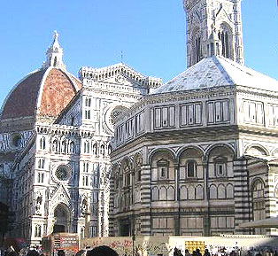 Baptistery in The Piazza Del Duomo, Florence